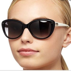 Kate Spade Angelique Sunglasses Black/White